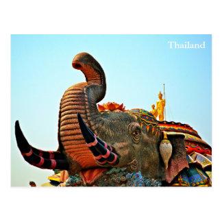Cartão Postal Proibição Rai de Wat, Korat, Tailândia