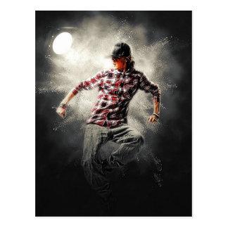 Cartão Postal Projector masculino dos homens da dança clara