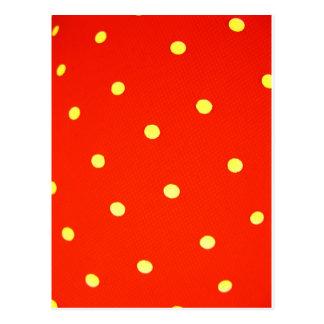 Cartão Postal Projete pontos redondos simples Polk da forma do