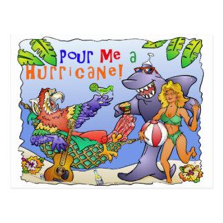 Cartão Postal Projeto colorido do partido da praia