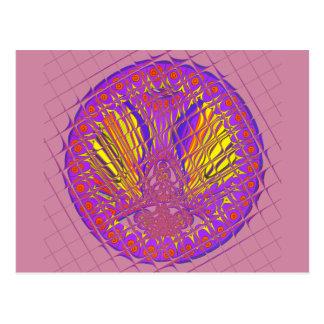 Cartão Postal Projeto colorido surpreendente do teste padrão da