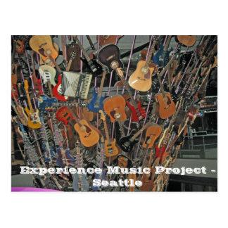Cartão Postal Projeto da música da experiência - Seattle