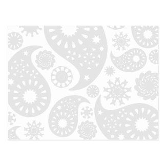 Cartão Postal Projeto Pastel do teste padrão de Paisley das