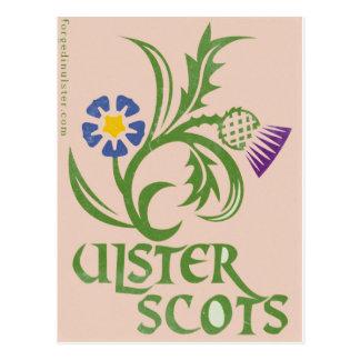 Cartão Postal Projeto Ulster-Escocês do linho & do cardo