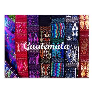 Cartão Postal Projetos guatemaltecos de matéria têxtil