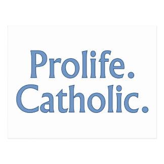 Cartão Postal Prolife. Católico