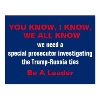 Cartão Postal Promotor de justiça especial em gravatas de