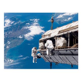 Cartão Postal Promovendo a estação espacial internacional