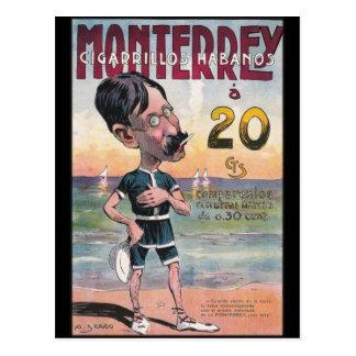 Cartão Postal Propaganda 1907 do charuto de Monetrrey do vintage