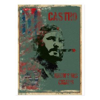 Cartão Postal Propaganda Castro de Cuba