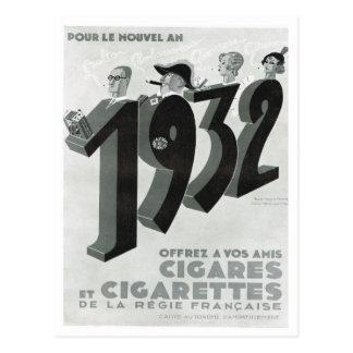 Cartão Postal Propaganda, charutos, cigarros