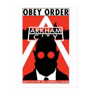 Cartão Postal Propaganda da C.A. - obedeça a ordem