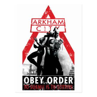 Cartão Postal Propaganda da C.A. - Obey/To Submit é sobreviver
