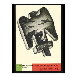 Cartão Postal Propaganda de Mussolini