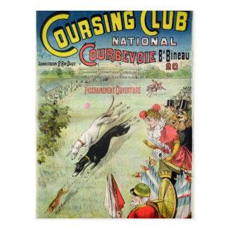 Cartão Postal Propaganda de poster a abertura do percurso