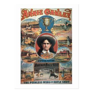 Cartão Postal Propaganda de poster Annie Oakley que caracteriza