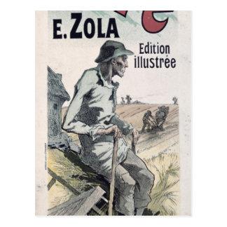 "Cartão Postal Propaganda de poster ""La Terre"" por Emile Zola,"