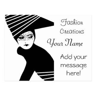 Cartão Postal Propaganda do desenhador de moda