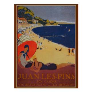 Cartão Postal Propaganda do viagem do francês do vintage