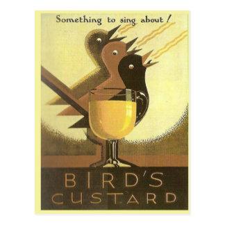Cartão Postal Propaganda do vintage, creme