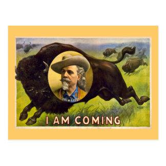 Cartão Postal Propaganda do vintage de Buffalo Bill cerca de
