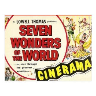 Cartão Postal Propaganda do vintage, filme; Sete maravilhas
