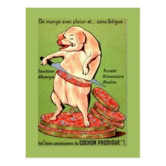 Cartão Postal Propaganda do vintage, francês, junções da carne