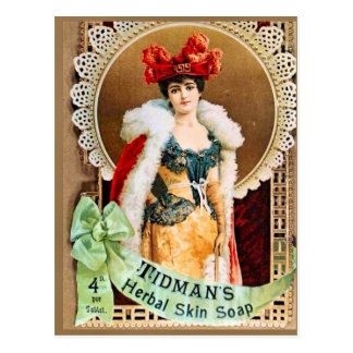 Cartão Postal Propaganda do vintage, sabão erval da pele de