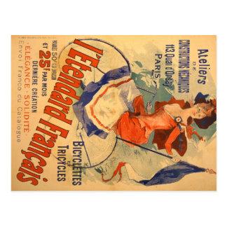 Cartão Postal Propaganda francesa do vintage