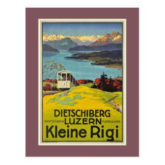 Cartão Postal Propaganda suíça de Rigi da lucerna dos cumes do