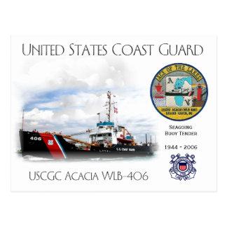 Cartão Postal Proposta da bóia da acácia WLB-406 de USCGC