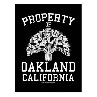 Cartão Postal Propriedade de Oakland
