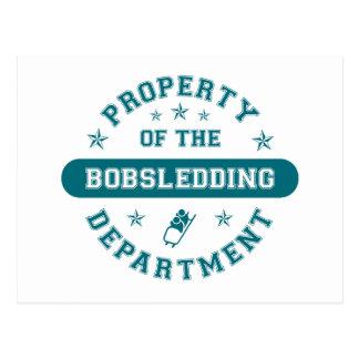 Cartão Postal Propriedade do departamento Bobsledding