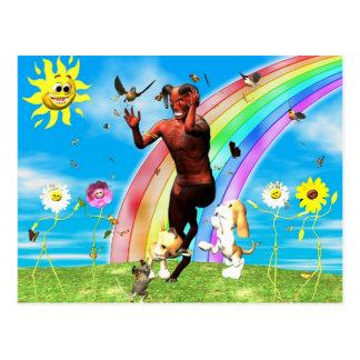 Cartão Postal Próprios PEDAÇOS privados do diabo