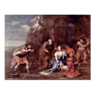 """Cartão Postal Prospero e Miranda"""" por Hogarth William"""