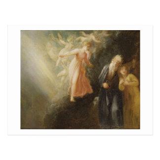 """Cartão Postal Prospero, Miranda e Ariel, """"da tempestade"""", c"""