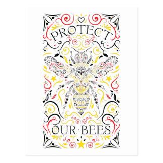 Cartão Postal proteja nossas abelhas