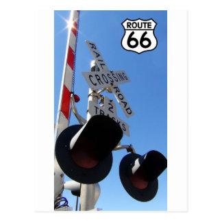Cartão Postal protetor da rota 66 do cruzamento de estrada de