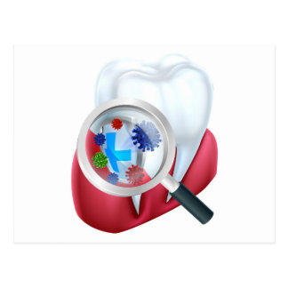 Cartão Postal Protetor do dente da proteção