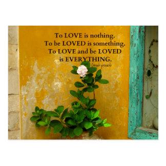 Cartão Postal provérbio do grego das citações do amor do
