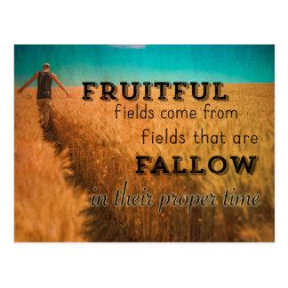 Cartão Postal Provérbio frutuoso do campo