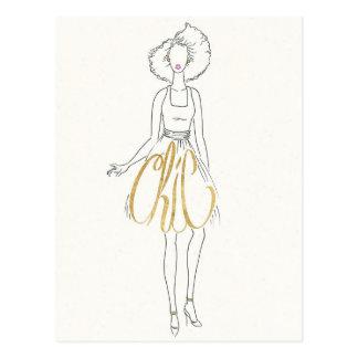 Cartão Postal Provérbios do estilo de Apple selvagem | - vestido