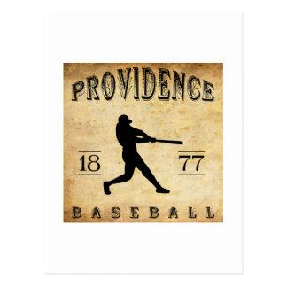 Cartão Postal Providência 1877 Rhode - basebol da ilha