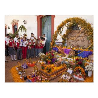 Cartão Postal Província de México, Oaxaca, Ocotlan, estudantes