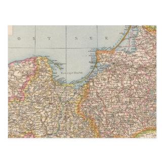 Cartão Postal Prússia de Ost u Westpreussen, de leste e