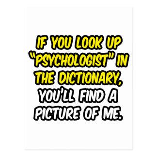 Cartão Postal Psicólogo no dicionário… minha imagem