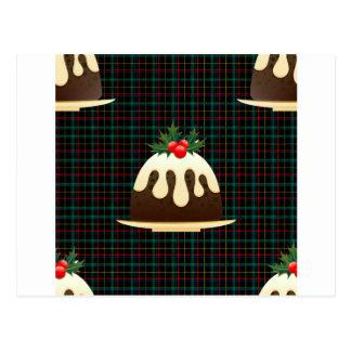 Cartão Postal pudins do Natal da xadrez