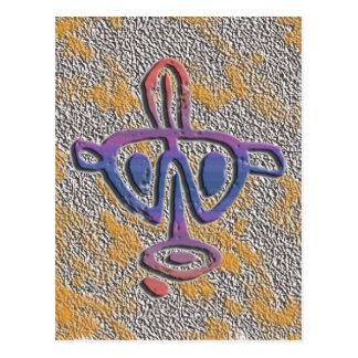 Cartão Postal Puerto Rico - petroglyph