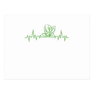Cartão Postal Pulsação do coração do vegetal do vegetariano do