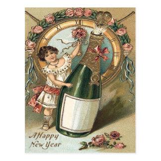 Cartão Postal Pulso de disparo cor-de-rosa da garrafa de